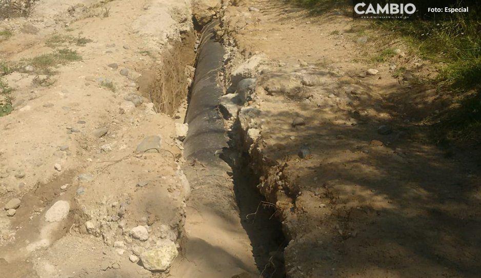 Descuida Pemex mantenimiento de ductos  en municipios de Tlalancaleca y Tlahuapan