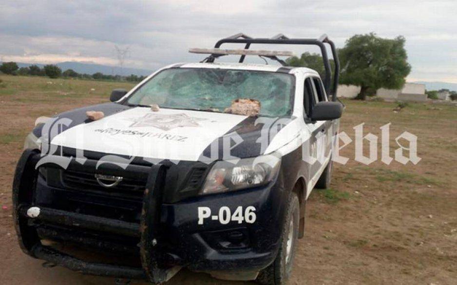 Puebla ingobernable: echan a palazos y pedradas a policías en los Reyes de Juárez