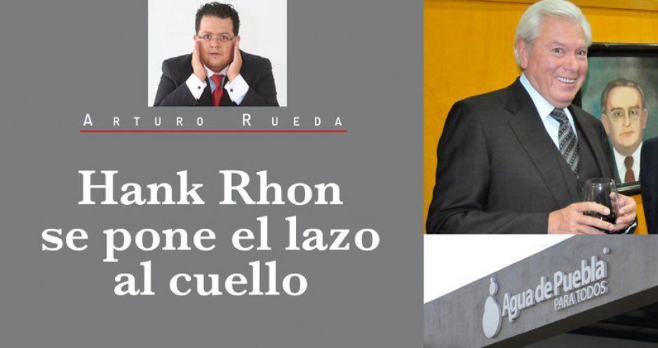 Hank Rhon se pone el lazo al cuello