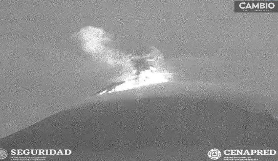 El Popo quiere nuestra atención a las 6:35 horas emite una explosión (VIDEO)