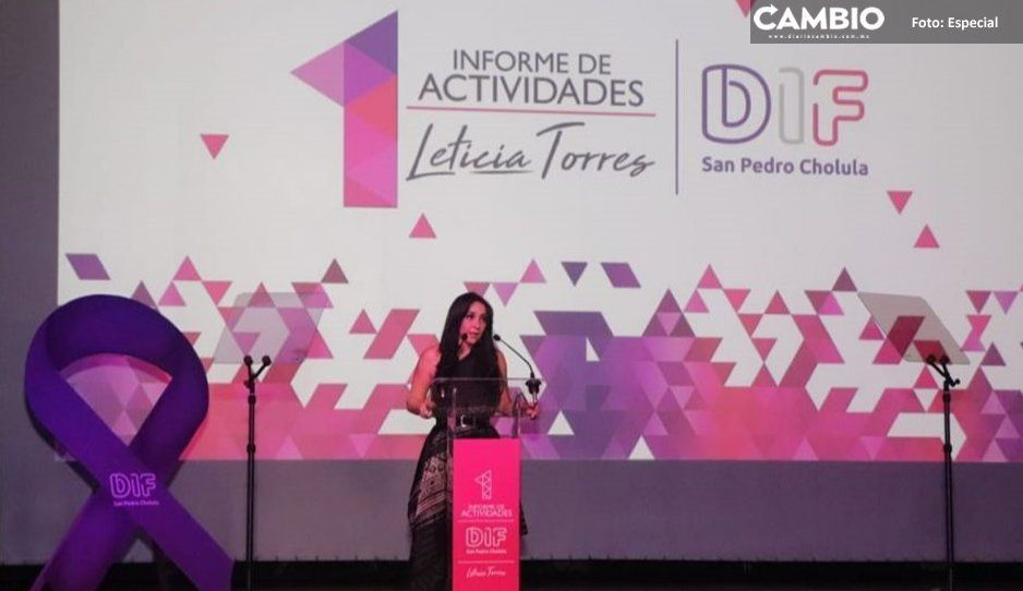 Rinde primer informe Leticia Torres como  presidenta del DIF de San Pedro Cholula