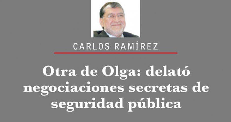 Otra de Olga: delató negociaciones secretas de seguridad pública