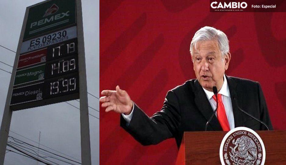 Puebla, entre los cinco estados que vende gasolina más barata: AMLO