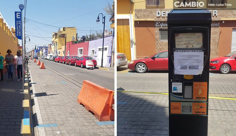 Inservibles los parquímetros en San Pedro Cholula
