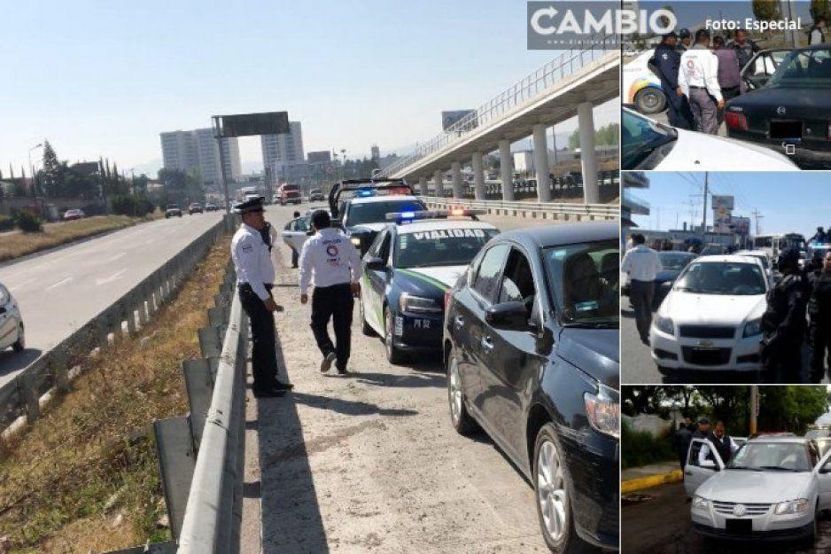 ¡Adios taxis piratas! En este primer semestre de 2019 se han retirado 80 vehículos irregulares en Puebla