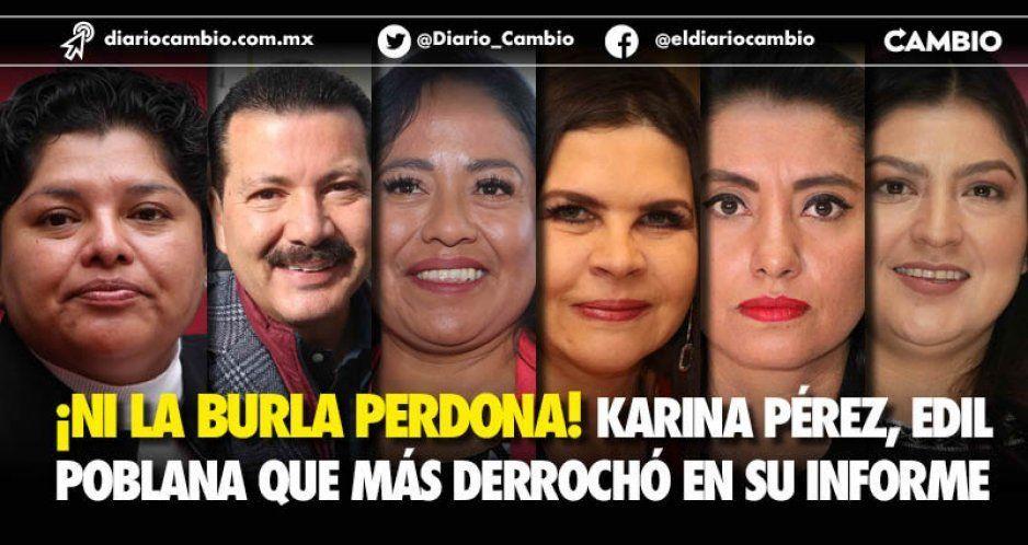 Karina Pérez derrochó casi 5 millones de pesos en su primer informe