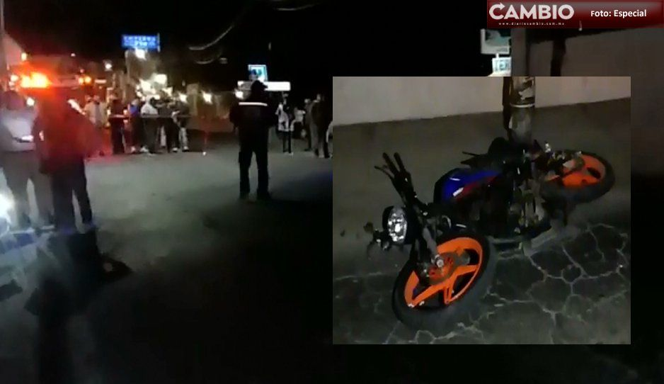 Motociclista se derrapa y se parte el cráneo y termina en la morgue de Libres