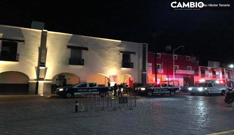 Policías se enfrentan a balazos con borrachos en Huejotzingo