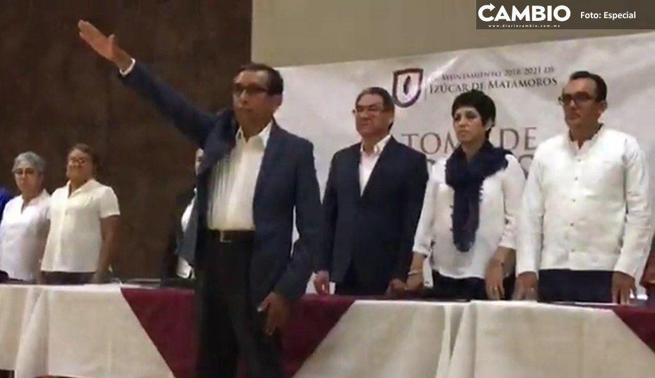 Toma protesta Benjamín Hernández  como presidente municipal de Izúcar