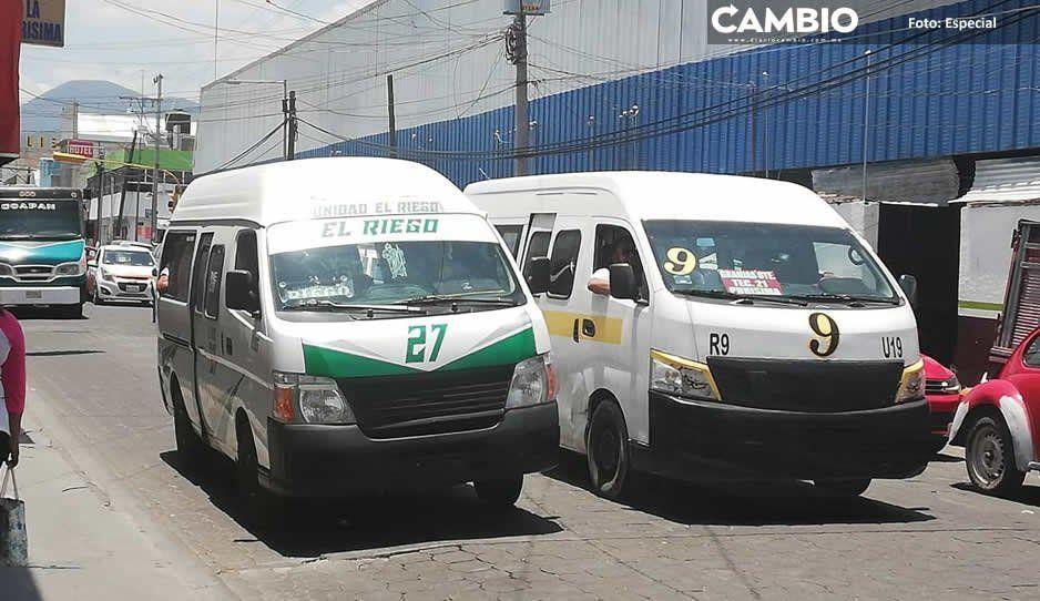 Transportistas piden aumento de dos pesos a pasaje en Tehuacán