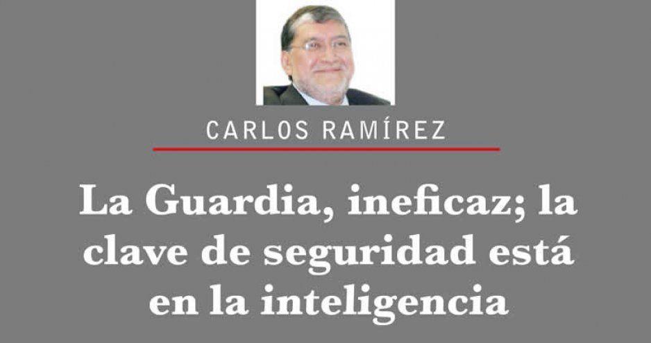 La Guardia, ineficaz; la clave de seguridad está en la inteligencia