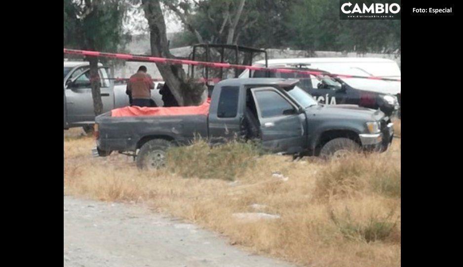 Torturan y dan tiro de gracia al Chumay en Tecamachalco; dejan cuerpo en camioneta