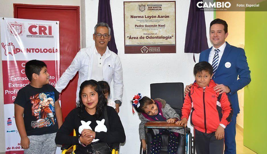 Inauguran consultorio dental en Centro de Rehabilitación Integral de Texmelucan