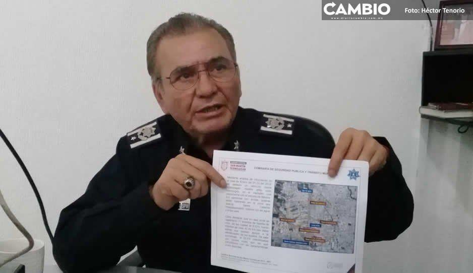 Pese a detenciones de delincuentes, afectados no presentan denuncias y no pueden ser consignados: comisario de Texmelucan