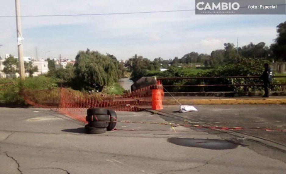 ¡Cuidado! Puente de Lomas de San Miguel en alto riesgo de colapso
