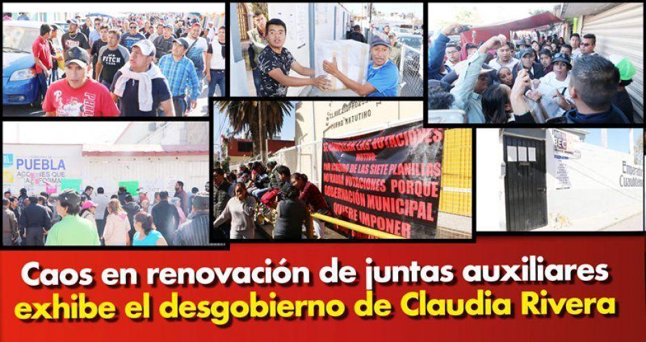 Caos en plebiscitos de juntas auxiliares exhibe desgobierno de Claudia; no dieron resultados (FOTOS Y VIDEOS)