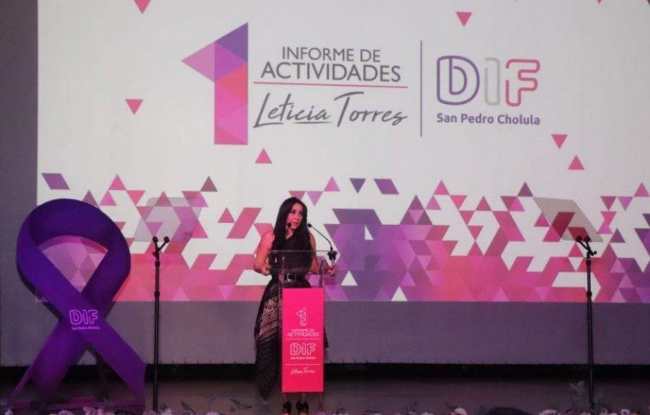 San Pedro Cholula se consolida como el municipio con más programas sociales: Leticia Torres