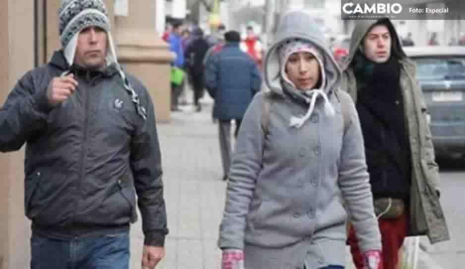 Pronostican heladas en 35 municipios de Puebla por frente frío 26