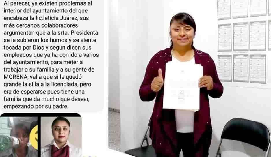Revientan a alcaldesa morenista de Chiautzingo por despedir a trabajadores del ayuntamiento y meter a su familia
