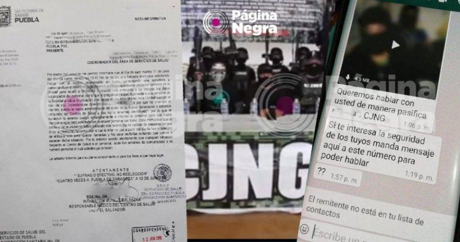 Cártel Jalisco Nueva Generación amenaza por WhatsApp a médicos de Puebla