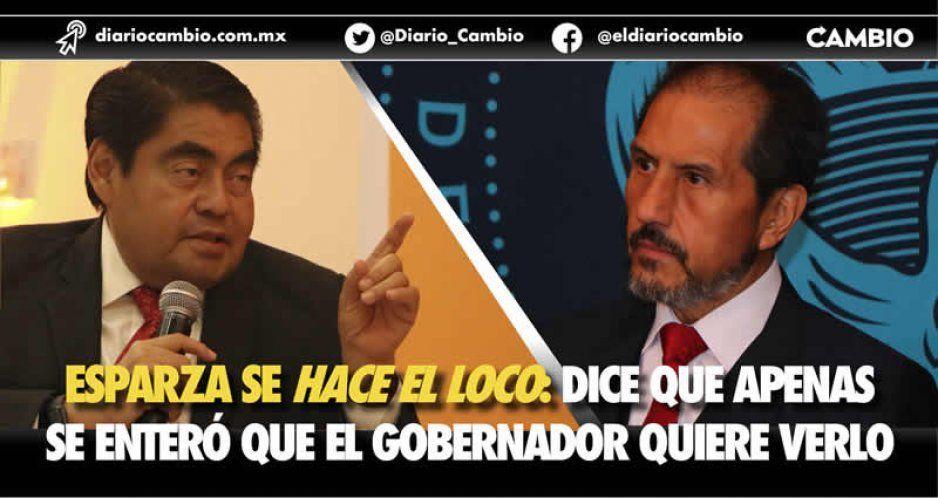 Esparza se hace el loco: dice que apenas se enteró que el gobernador quiere verlo (VIDEO)