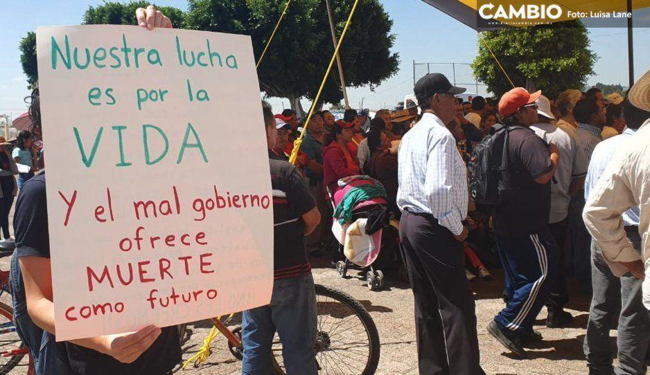Juan C. Bonilla se niega a ser vertedero de aguas negras de zona industrial de Huejotzingo