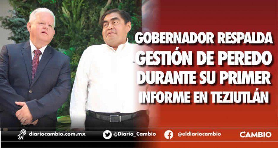 Gobernador respalda gestión de Peredo durante su Primer Informe en Teziutlán