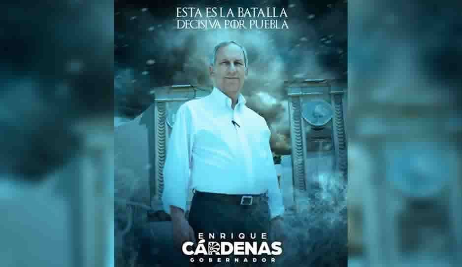 """A lo Game of Trones, el nuevo anuncio de Cárdenas en""""La batalla decisiva por Puebla"""""""