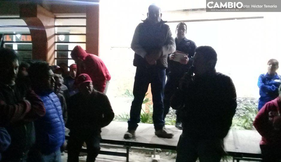 Amenazan pobladores en Texmelucan con linchar a ladrones si no hay respuesta de las autoridades