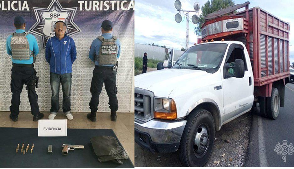 Operativo en Huixcolotla deja como saldo una camioneta asegurada y dos hombres detenidos