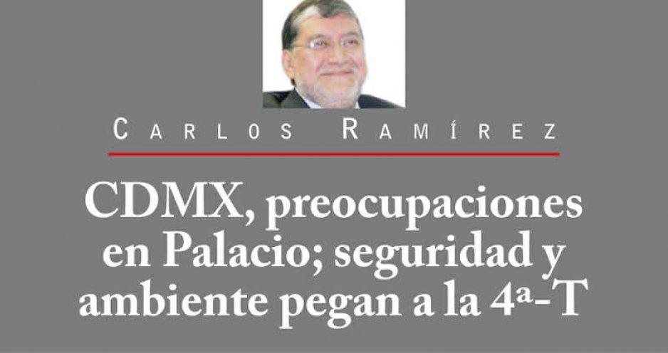 CDMX, preocupaciones en Palacio; seguridad y ambiente pegan a la 4ª-T