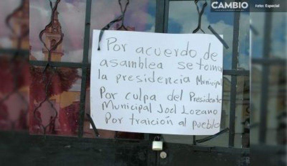 Alcaldía de Juan C. Bonilla cumple 15 días de estar tomada por pobladores inconformes