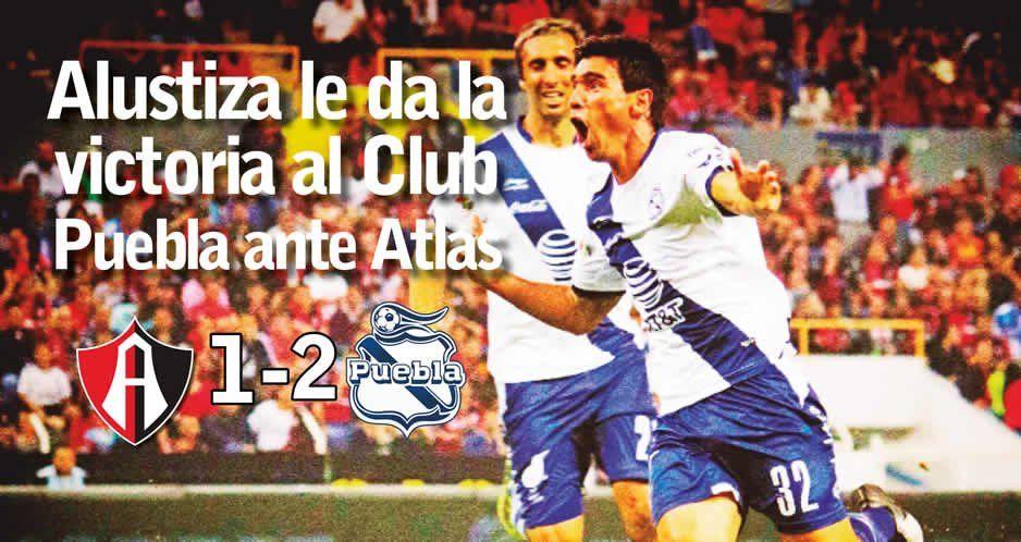 Alustiza le da la victoria al Club Puebla ante Atlas