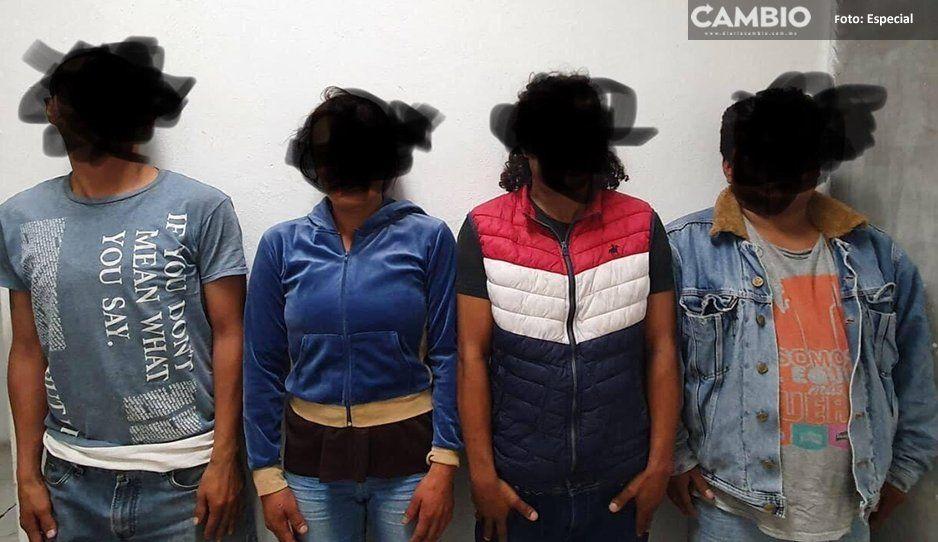 Policía de Atlixco asegura a banda de ladrones: querían empeñar una televisión robada