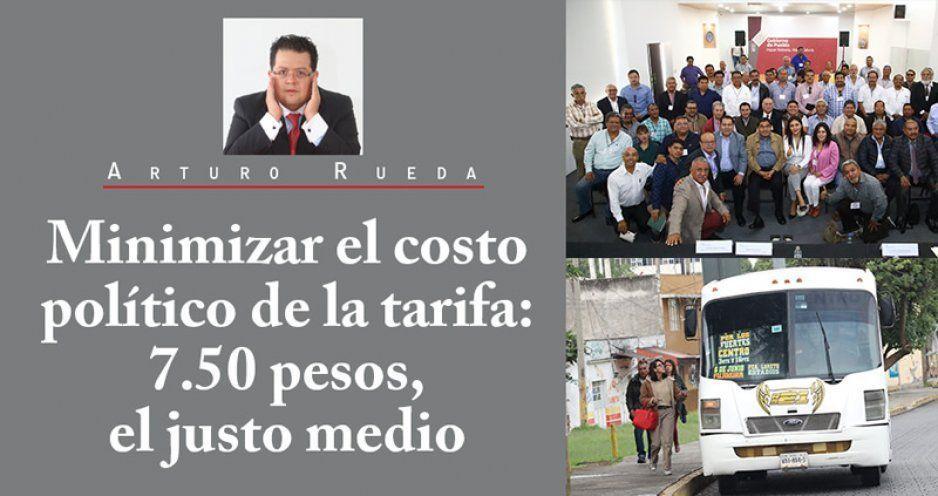 Minimizar el costo político de la tarifa: 7.50 pesos, el justo medio