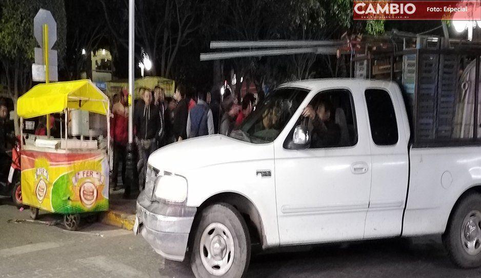 Detienen a líderes ambulantes de Texmelucan, tras los enfrentamientos de noviembre