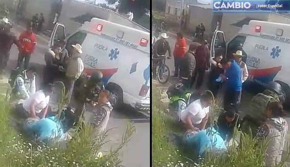 Abuelitos iban a recoger su apoyo de la tercera edad y terminan atropellados en Teotlalcingo (VIDEO)