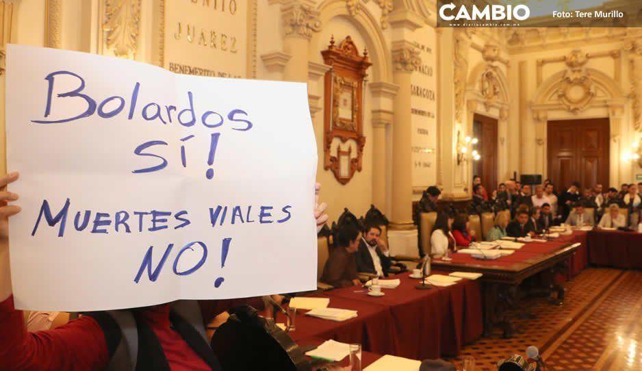 Sin Rubio Acle, Cabildo define hoy continuidad de la bolardiza