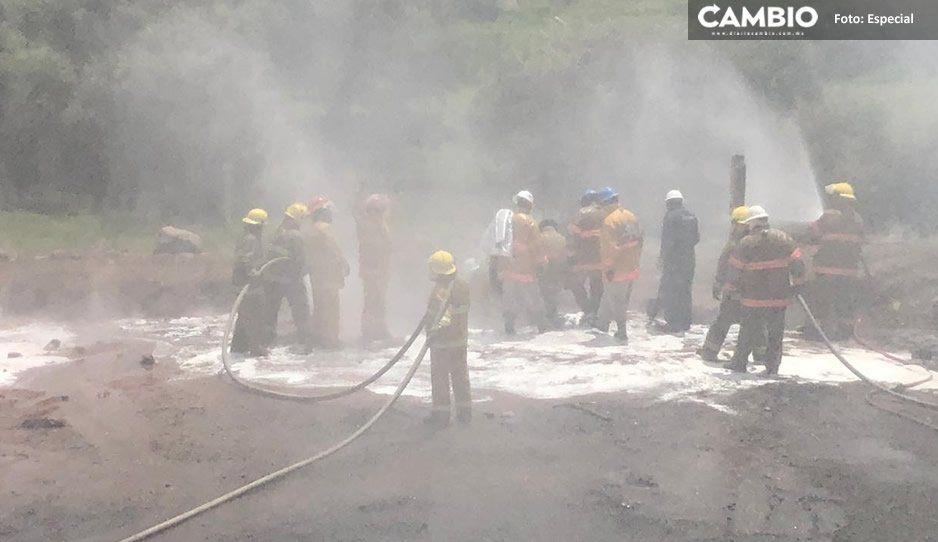 Luego de tres días sofocan incendio ocasionado por huachigaseros en San Lorenzo Almecatla