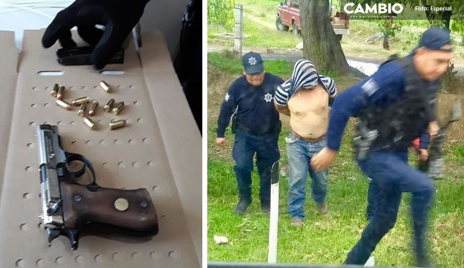 Policía Municipal de Texmelucan frustra asalto a transporte