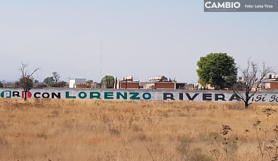 El priista Lorenzo Rivera se adelanta a las campañas y satura bardas en el Periférico