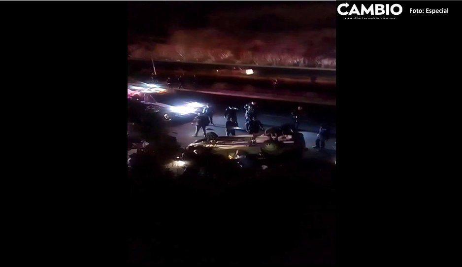 VIDEO: Balacera sobre el Periférico Ecológico cerca de Bosques de Chapultepec; deja dos muertos