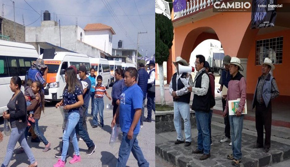 Evacuación en Calpan por el Popocatépetl... pero sólo es simulacro, no te asustes