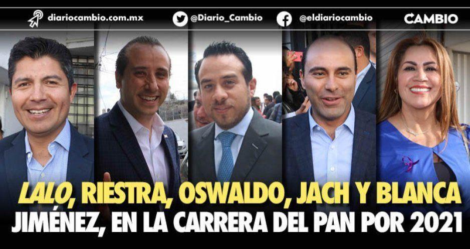 Lalo, Riestra, Oswaldo, JACH y Blanca Jiménez, en la carrera del PAN por 2021