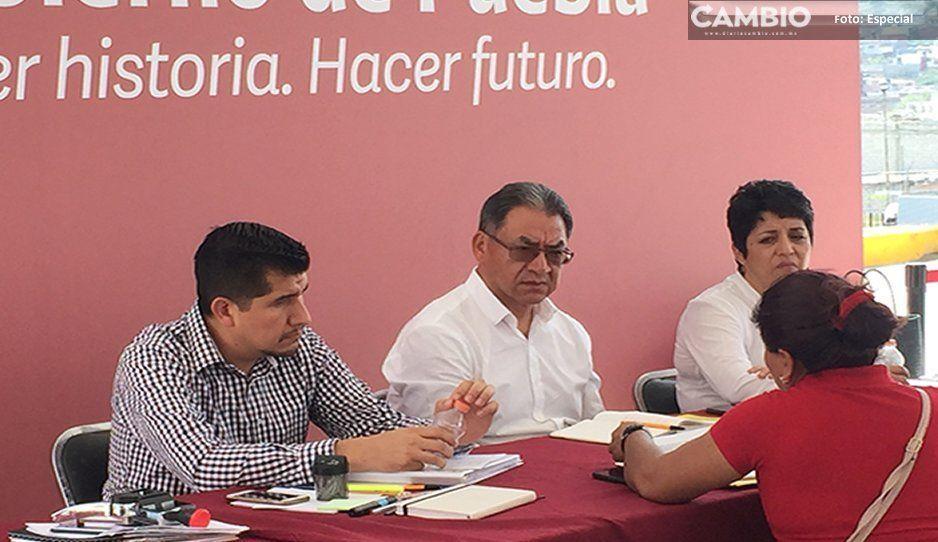 Melitón acude a la jornada ciudadana en Atlixco; desmiente salida de la SEP