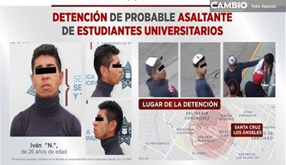 ¡Cae rata de universitarios! Detienen a asaltante de estudiantes UPAEP
