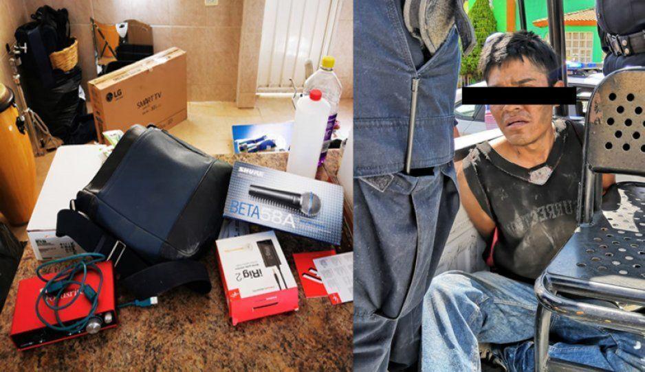 Capturan a ladrón tras robar en oficinas de Atlixco