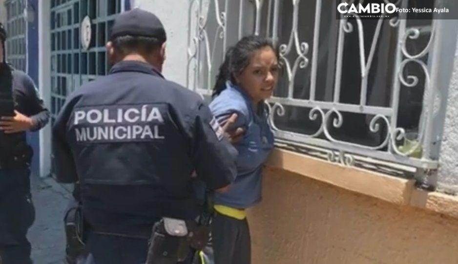 Rosario Tijeras de Izúcar dispara contra policía frente a primaria Herculano Sánchez