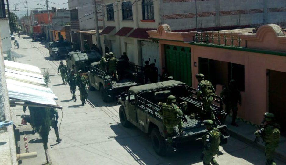 Guardia Nacional encabeza operativo en Moyotzingo tras balacera