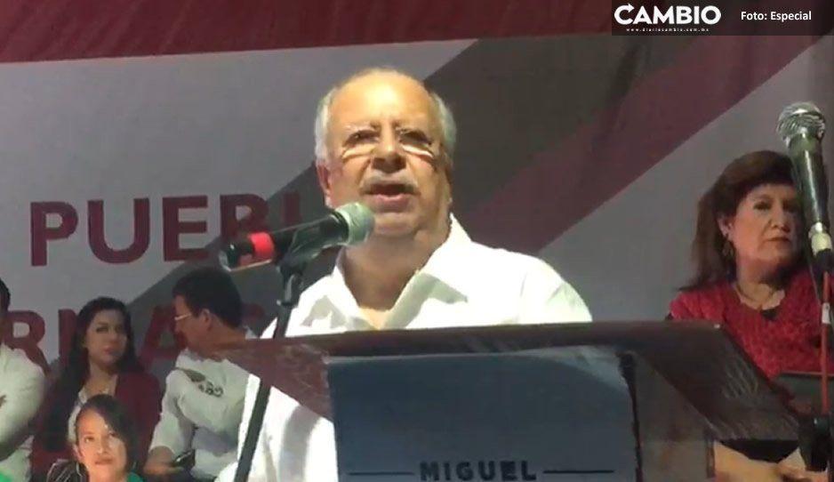Respalda ex dirigente nacional del SNTE a Miguel Barbosa en Cholula (VIDEO)